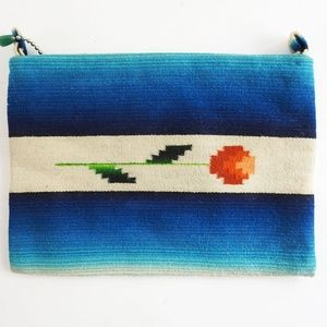 1930's Hand Woven Wool Chimayo Style Clutch